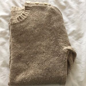 Cream colored wool JCrew sweater